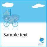Landau bleu de bébé de Cupe Images libres de droits