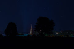 Landau at night. With starry sky Stock Photography
