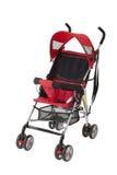 Landau rouge mignon de bébé photo libre de droits