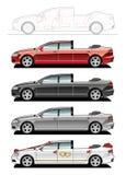 Landaulet, wedding cars Stock Images