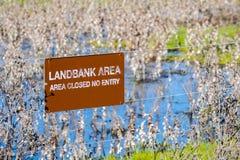 ` Landbank gepost Gebieds` teken royalty-vrije stock afbeelding