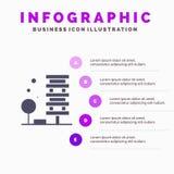 Landbouw, Architectuur, de Bouw, Stad, Milieu Stevig Pictogram Infographics 5 de Achtergrond van de Stappenpresentatie vector illustratie