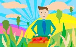 Landbouw Bussinessman Stock Illustratie