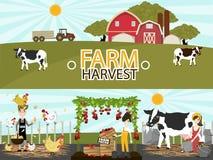 Landbouw en de Landbouw Vector illustratie Stock Fotografie