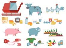 Landbouw en voedselproductie Stock Foto