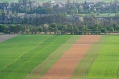 Landbouw gebied van de lucht royalty-vrije stock afbeelding