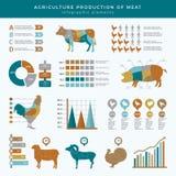 Landbouw infographic de landbouw Van de het bedrijfs landbouwbedrijftechnologie van voedseldieren grafiek de voedings van de de i vector illustratie