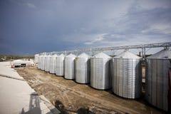 Landbouw silo royalty-vrije stock afbeeldingen