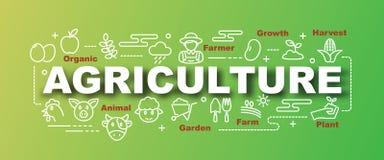 Landbouw vector in banner vector illustratie