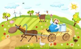 Landbouwbedrijf stock illustratie