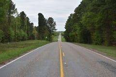 Landbouwbedrijf aan Marktweg in Oost-Texas Royalty-vrije Stock Afbeeldingen