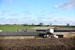 Landbouwbedrijf & de Gebouwen van het Landbouwbedrijf dichtbij Wakefield Stock Afbeelding
