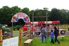 Landbouwbedrijf Berry Wagon Stock Foto
