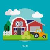 Landbouwbedrijf Conceptueel Ontwerp vector illustratie
