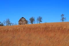Landbouwbedrijf in de herfst stock fotografie