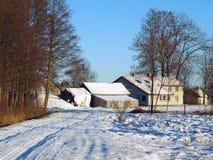 Landbouwbedrijf in de winter 2 Royalty-vrije Stock Afbeeldingen