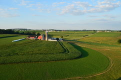 Landbouwbedrijf en gebieden van Pennsylvania royalty-vrije stock afbeeldingen