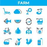 Landbouwbedrijf en landbouwpictogrammen vector illustratie