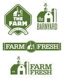 Landbouwbedrijf en Schuuremblemen Royalty-vrije Stock Foto