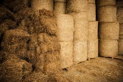 Landbouwbedrijf Hay Storage Facility Stock Foto
