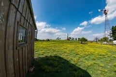 Landbouwbedrijf in het land van Pennsylvania amish stock afbeelding