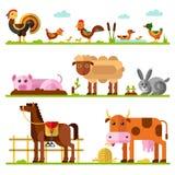 Landbouwbedrijf of huisdieren royalty-vrije illustratie