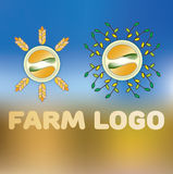 Landbouwbedrijf Logotype Royalty-vrije Stock Foto