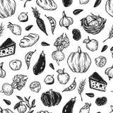 Landbouwbedrijf, oogst, groenten en vruchten Stock Fotografie