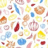 Landbouwbedrijf, oogst, groenten en vruchten Royalty-vrije Stock Foto's