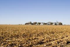 Landbouwbedrijf op de Prairie royalty-vrije stock afbeelding