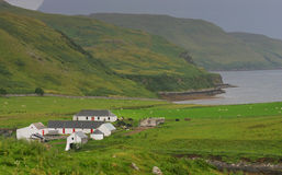 Landbouwbedrijf op het Eiland van Skye Stock Foto's