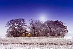 Landbouwbedrijf op het gebied royalty-vrije stock afbeeldingen