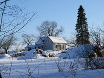 Landbouwbedrijf in Quebec Canada, Noord-Amerika Stock Foto's