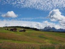 Landbouwbedrijf in Seiser Alm - Italië Stock Afbeelding