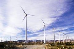 Landbouwbedrijf van de wind Twee Stock Afbeelding