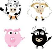 Landbouwbedrijf (vector) stock illustratie