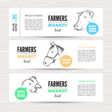 Landbouwbedrijf vectorbanners Royalty-vrije Stock Foto's