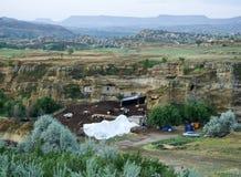 Landbouwbedrijfcappadocia in Urgup royalty-vrije stock afbeeldingen