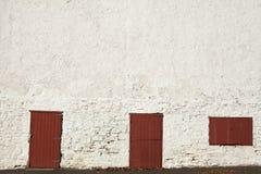 Landbouwbedrijfdeuren en venster Royalty-vrije Stock Fotografie