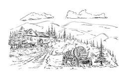 Landbouwbedrijfdorp Stock Afbeelding