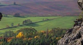 Landbouwbedrijfgebieden Stock Afbeelding