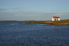 Landbouwbedrijfgebouwen op Somberder Eiland - Falkland Islands royalty-vrije stock foto