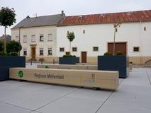 Landbouwbedrijfhuis in Berdorf, Luxemburg, Europa Royalty-vrije Stock Foto's