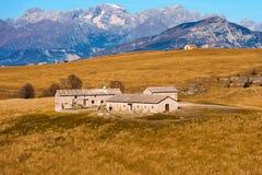 Landbouwbedrijfhuizen - Lessinia Italië Royalty-vrije Stock Afbeeldingen