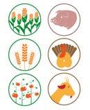 Landbouwbedrijfpictogram Royalty-vrije Stock Afbeeldingen