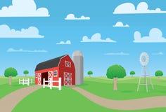 Landbouwbedrijfscène Royalty-vrije Stock Afbeelding