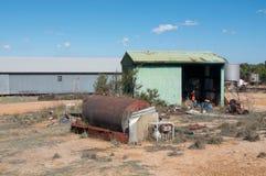 Landbouwbedrijfscène in Westelijk Australië Stock Foto