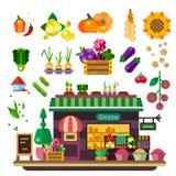 Landbouwbedrijfwinkel, natuurvoeding Stock Foto