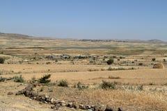 Landbouwbedrijven en dorpen in Ethiopië stock foto's