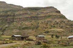 Landbouwbedrijven en dorpen in Ethiopië royalty-vrije stock foto's